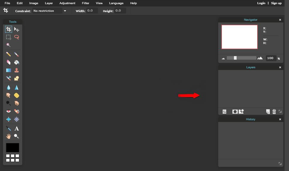 Pixlr Layers Panel