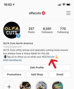 #OLFACuts hashtag instagram